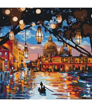 Картина для розпису за номерами - Вогні Венеції