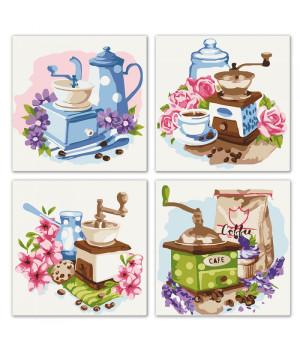 Поліптих для розпису за номерами - Квіткова кава