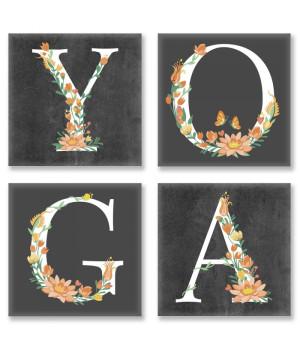 Картина для розпису за номерами - YOGA loft