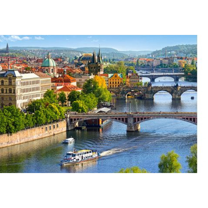Пазл View of bridges in Prague, 500 елементів