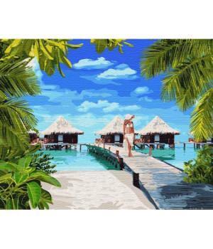 Картина по номерам - Відпочинок на Мальдівах (КНО4764)