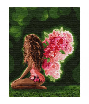 Картина по номерам - Квіткові крила (КНО4754)