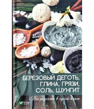 Березовый деготь, глина, грязи, соль, шунгит. Все рецепты в одной книге   Коняева Елизавета