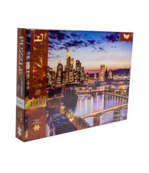 Пазли Вечерний місто, Франкфурт, Німеччина 1500 елементів Danko Toys C1500-03-04 (4823102800400) (400700), 400700, Пазли. Карти, Пазли