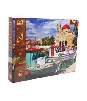 Пазли Грецькі острови 1500 елементів Danko Toys C1500-03-03 (4823102800394) (400701), 400701, Пазли. Карти, Пазли