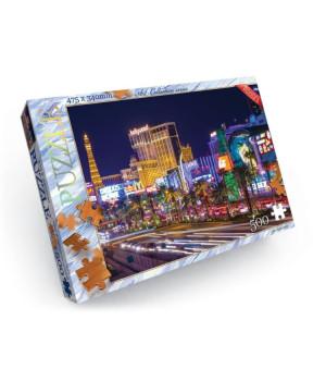 Пазли Лас-Вегас 500 елементів Danko Toys C500-11-07 (4820186077506) (400702), 400702, Пазли. Карти, Пазли