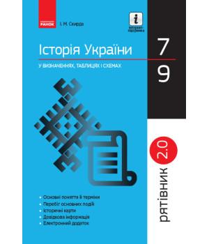 Рятівник 2.0 Історія України у визначеннях, таблицях і схемах 7 - 9 класи (Укр) Ранок Г109052У (9786170959461) (347422)